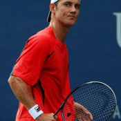 Matthew Ebden displayed grit and intensity to come through a tight opening set against Tatsuma Ito of Japan, going on to win 7-6(9) 6-3 6-2; Getty Images