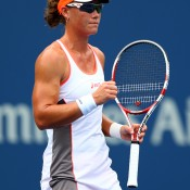 Sam Stosur got off to a flyer in her US Open title defence on Day 1, smoking Petra Martic 6-1 6-1 in the first match of the tournament on Arthur Ashe Stadium; Getty Images