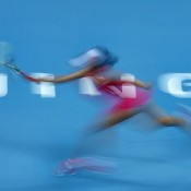 A multi-exposure shot of China's Peng Shuai playing against compatriot Li Na at the China Open in Beijing; Getty Images