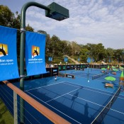 A view over the Nanjing Sports Institute tennis academy as players compete at the inaugural Asia-Pacific Australian Open Wildcard play-off, during the AO Trophy Tour in Nanjing, China; Getty Images