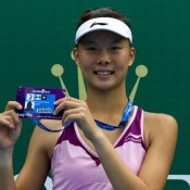 Yuxuan Zhang of China holds the wildcard in the main draw of Australian Open 2013 after winning the Asia-Pacific AO Wildcard Play-off; Getty Images