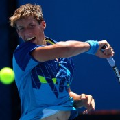 Daniel Guccione in action during the Australian Open 2012 junior event; Getty Images