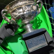 The Norman Brookes Challenge Cup aboard the Quicksilver high-speed wave-piercing catamaran on a tour of the Great Barrier Reef; Tennis Australia