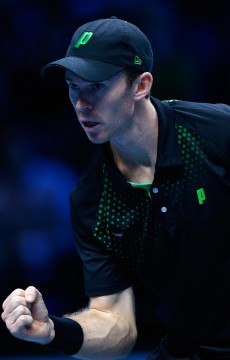 John Peers in doubles action at the 2015 ATP World Tour Finals in London; Getty Images