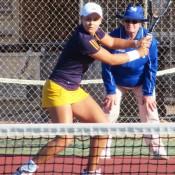 Ashleigh Barty in action at the Esperance Pro Tour event; Tennis Australia