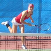 Olivia Rogowska in action at the Esperance Pro Tour event; Tennis Australia