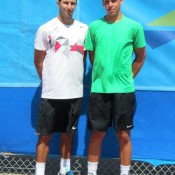 Esperance Pro Tour men's winner Adam Feeney (L) and runner-up Alex Bolt; Tennis Australia