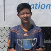 Optus 14s Spring Nationals champion Richard Yang; Tennis Australia