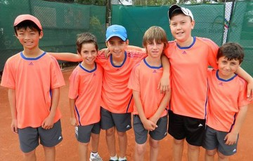 Team Djokovic in Victoria, Term 4 2011: Irwin Yeong, Marcus Stathos, Stefan Cvetkovic, Lachie Wilde, Tim Karpinski and Stefan Ivanic; Tennis Australia