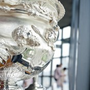 Intricate detail on the Norman Brookes Challenge Cup; Keith Tsuji