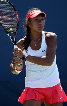 Destanee Aiava in action at the 2015 US Open junior singles event; Getty Images