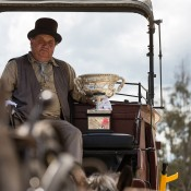 The Norman Brookes Challenge Cup takes a horse-and-cart ride at Sovereign Hill in Ballarat, Victoria; Mark Riedy