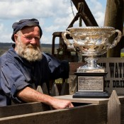 The Norman Brookes Challenge Cup visits Sovereign Hill in Ballarat, Victoria; Mark Riedy.