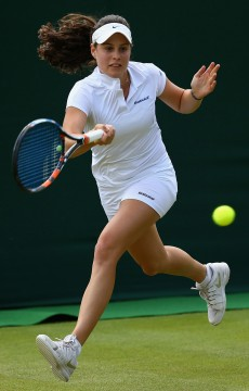 Kimberly Birrell in action at the 2015 Wimbledon junior event; Getty Images