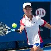 Brooke Milner, Optus 14s Australian Championships, Melbourne Park, 2012. XUE BAI