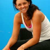 Relaxed after her first Grand Slam main draw win in two years and enjoying a break between the first and second rounds in Melbourne, Dellacqua took part in some scrap-booking; Getty Images