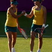 Although they fell in the first round, Dellacqua had the honour of representing Australia at the 2012 Olympic Games in London with doubles partner Sam Stosur, the tennis event played on the hallowed turf at Wimbledon; Getty Images