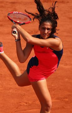 Jaimee Fourlis in action at Roland Garros in 2017; Getty Images