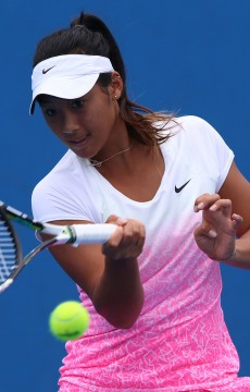 Priscilla Hon in action at Australian Open 2015; Getty Images