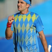 After again successfully coming through qualifying, Marinko Matosevic defeated local James Ward in the first round of the AEGON International at Devonshire Park in Eastbourne, England; Getty Images