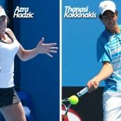 Optus 18s Australian Championships 2012: Azra Hadzic and Thanasi Kokkinakis.