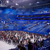 Inside the magnificent new Perth Arena, which will host the 25th Hopman Cup in January 2013; Tennis Australia