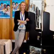 Alicia Molik backstage at the Perth Arena Open Day; Tennis Australia