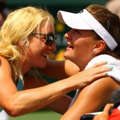 Seen here hugging sister Urszula (L), Agnieszka Radwanska celebrates winning the Sony Ericsson Open final in Miami against Maria Sharapova. While the elder Radwaska was busy winning prestigious titles and rising to world No.2 in 2012, Urszula was making tracks of her own, cracking the top 30 in October. The sisters are Poland's top ranked players; Getty Images