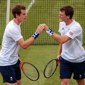 While Andy (L) may be the more famous of the Murray brothers, Jamie (R) has compiled an excellent career on the doubles court, reaching the top 25 in the tandem game as well as winning seven titles. Here they can be seen competing for Great Britain at the London 2012 Olympics; Getty Images