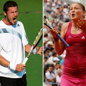 Russians Marat Safin (L) and Dinara Safina are the first brother and sister to be ranked No.1 on the ATP and WTA tours respectively. Safin, who won two Grand Slam titles, and Safina, who was a three-time major finalist, have both since retired from the game; Getty Images