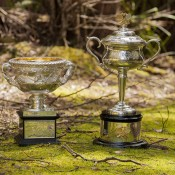 The Australian Open trophies visit the Tasmanian forest; Tennis Australia