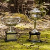 The Australian Open trophies visit the Tasmanian forest; Tennis Australia