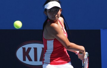 Jeanette Lin's powerful serve and forehand were reflective of her position as top seed in the Optus 12s event.
