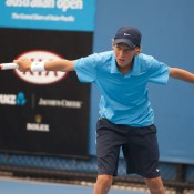 Max Purcell claimed the boys' Optus 14s singles championship and teamed up with top seed Scott Jones to seize the doubles.