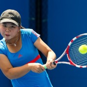 Olivia Tjandramulia took command of the girls' Optus 16s singles, not having dropped a set until the final match against Zoe Hives who pushed her to three sets.