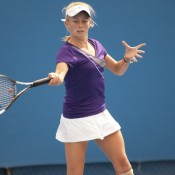 A wildcard entrant into the Optus 18s tournament, Zoe Hives exhibited some  impressive tennis, defeating higher ranked players to commendably reach the quarterfinals.