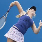 Abbie Myers in action at the Optus 18s Australian Championships; Emily Mogic