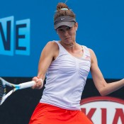 Bojana Bobusic in action at the Australian Open 2013 Play-off at Melbourne Park; Matt Johnson