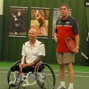 David Hall (L) and coach Rich Berman; Tennis Australia