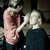 Olivia Rogowska in the make-up chair. Credit: Bek Johnson