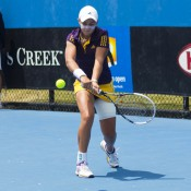 Ashleigh Barty entered the draw with high confidence levels after her success in the Australian Open 2012 Playoff, but was stunned in the quarterfinals by a fiery, consistent Bojana Bobusic.