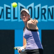 Jessica Moore reached the quarterfinals of the Australian Open 2013 Playoff without having dropped a set.