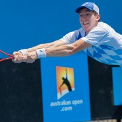 John-Patrick Smith defeated last year's champion and wildcard recipient Greg Jones in straight sets.
