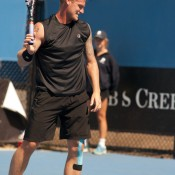 Top seed Sam Groth was upset by an aggressive Nick Kyrgios in the first round of the AO 2013 Playoff as his efforts to break back were quickly deflected.