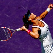 Sam Stosur was able to rebound impressively after her Australian disappointment, with her solid results including a run to the fourth round in Miami, where she lost in a high-quality match to Serena Williams; Getty Images