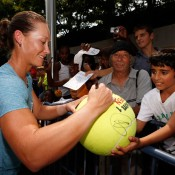 Retuning to New York for the first time since winning her first Grand Slam title at the 2011 US Open, Stosur was a hit with fans at Flushing Meadows in the lead-up to the 2012 tournament; Getty Images