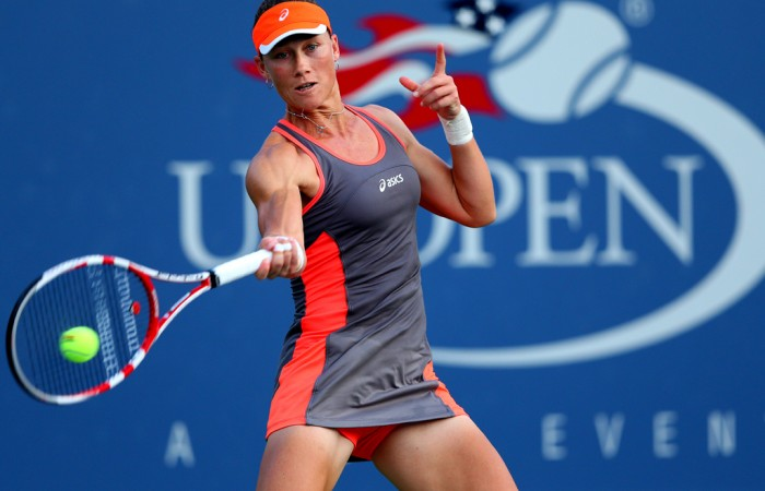 Showing no signs of the pressure that accompany a defending Grand Slam champions, Sam Stosur bombarded her way through the draw in Flushing Meadows. She reached the quarterfinals after defeating four opponents without the loss of a set; Getty Images