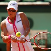 Once at her happy hunting ground of Roland Garros, Stosur set to work dismantling her opposition, including Elena Baltacha in the opening match of the tournament on Court Philippe Chatrier; Getty Images