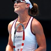 Unfortunately Stosur was unable to continue that form, falling in the second round in Brisbane, first round in Sydney and opening round at the Australian Open (pictured), where she was upset by Sorana Cirstea of Romania; Getty Images