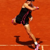 Stosur clubbed several forehand winners during her quarterfinal win over Dominika Cibulkova (pictured) at Roland Garros, but couldn't keep her momentum going - she was upset by Sara Errani in the semifinals; Getty Images